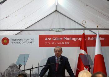 Erdoğan, Japonya'da Ara Güler Sergisi'nin açılışını yaptı