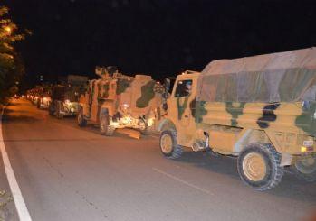 TSK'dan Suriye sınırına zırhlı araç ve komando takviyesi