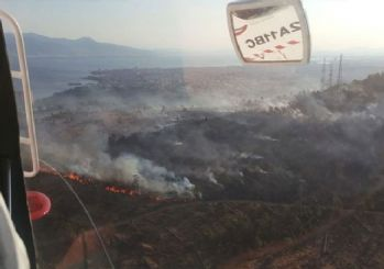 İzmir'de ağaçlandırma alanında yangın