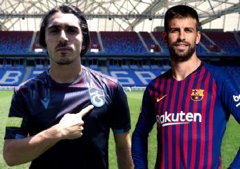 Trabzonspor'dan duygusal forma reklamı! Gerard Pique'den alkış aldı