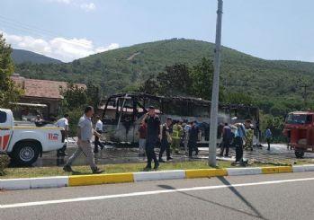 Balıkesir'de yolcu otobüsünde yangın: 5 ölü