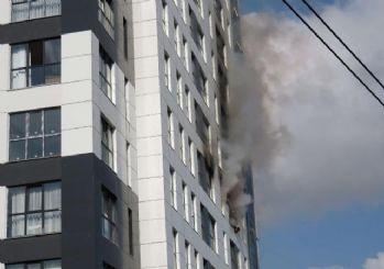 Ümraniye'de 16 katlı binada yangın