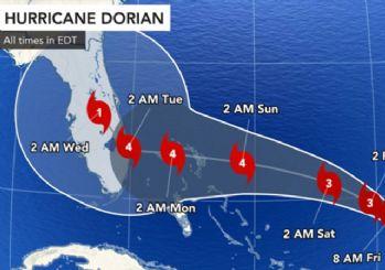 Dorian kasırgası 'Kategori 4' seviyesine yükseldi