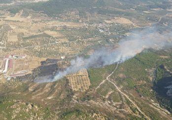 İzmir'de makilik alanda yangın
