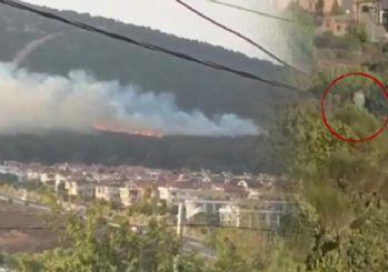 Pendik'teki orman yangınıyla ilgili bir kişi gözaltında