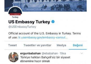 ABD Büyükelçiliği'ne tweet tepkisi! Maslahatgüzar bakanlığa çağrıldı