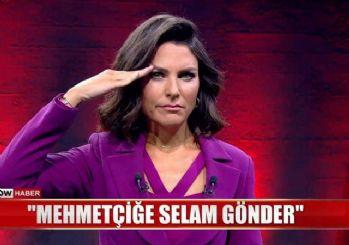Ece Üner'den canlı yayında asker selamı