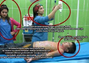 Kimyasal bomba yalanı fotoğraflarla çürütüldü