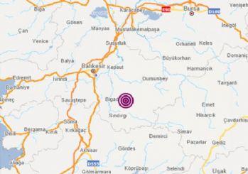 Balıkesir'de 12 dakika arayla 2 deprem