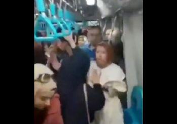 Metroda çarşaflı anneye çirkin saldırı
