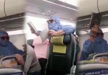 Uçakta panik anları: 'Ben FETÖ'cüyüm, uçağı patlatacağım' diyen kadın gözaltına alındı