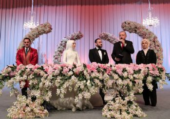 Cumhurbaşkanı Erdoğan, nikah şahidi oldu