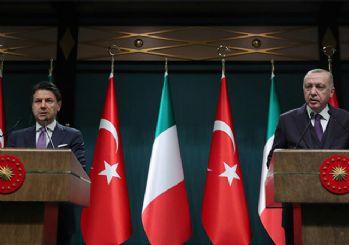 Erdoğan ve Conte: Ateşkes'te mutabıkız
