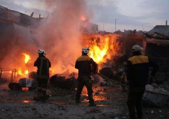 Rus savaş uçakları İdlib'i vurdu: 26 ölü!