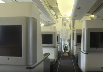 THY uçakları işte böyle dezenfekte ediliyor