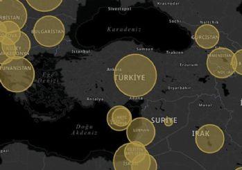 Türkiye'de korona bilgilendirme ekranı açıldı