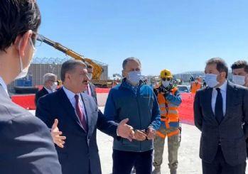 Sağlık Bakanı Koca'dan Sancaktepe'de yapımı süren hastanede inceleme