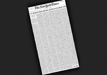 New York Times'dan koronavirüs manşeti: Ölenlerin isimlerini paylaştılar