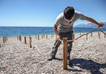 Antalya'da plajlar değişiyor: Sosyal mesafeli yeni düzen
