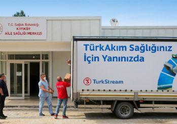 TürkAkım'dan sağlık ile temizlik malzemesi yardımı