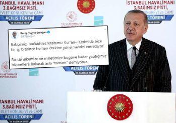 Erdoğan'dan hizmet yolunda 'Durmak yok' mesajı: Rabbimiz böyle emrediyor!