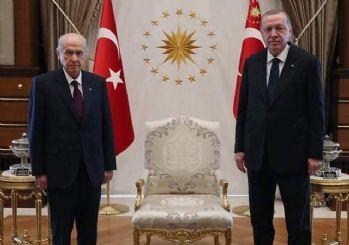 Erdoğan ile Bahçeli'nin görüşmesi başladı