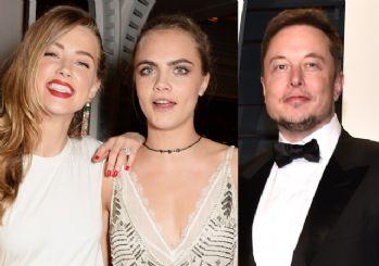 Johnny Depp: Amber Heard, Cara Delevingne ve Elon Musk'ın üçlü ilişkisi vardı