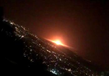 İran'da korkutan patlama! Askeri üs ve nükleer patlama iddiası