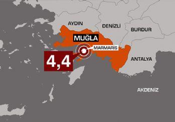 Muğla Marmaris'te 4.4 büyüklüğünde deprem
