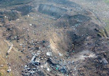 Sakarya'daki patlamada oluşan hasar havadan görüntülendi