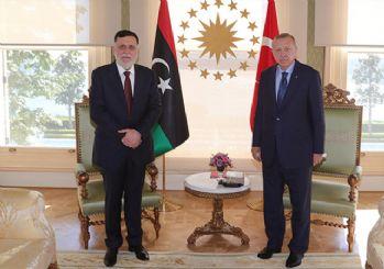 Cumhurbaşkanı Erdoğan, Libya Ulusal Mutabakat Hükümeti Başkanı Serrac'ı kabul etti