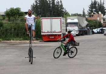 Adana'da yeni icat: 'Koronasiklet'