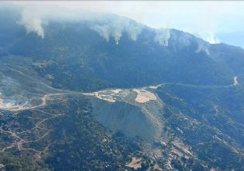 Aydın'da başlayan orman yangını Muğla'ya sıçradı!