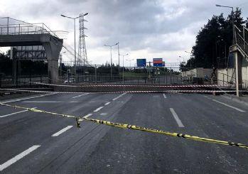 İstanbul Eyüpsultan'da üst geçit çöktü
