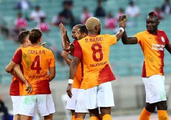 Galatasaray, Bakü'de 3 golle turladı! 3-1