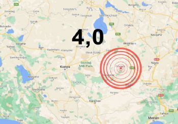 Konya'da art arda iki deprem oldu