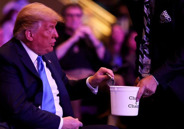 Trump'ın hareketi olay oldu! Cimri çıktı...