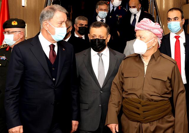 Hulusi Akar Mesut Barzani ile görüştü: Amacımız PKK'yı ortadan kaldırmak!