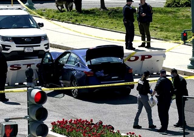 ABD Kongresi önünde polise saldırı