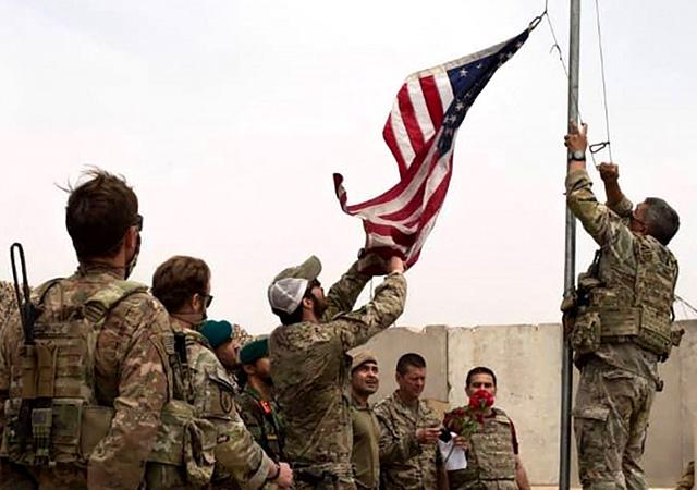 Afganistan bayrakları indirildi! ABD geri çekiliyor