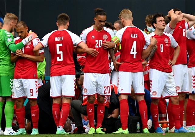 EURO 2020'de kahreden anlar! Christian Eriksen'in kalbi durdu
