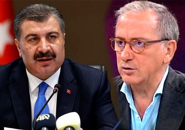 Fatih Altaylı Sağlık Bakanı Fahrettin Koca'dan özür diledi