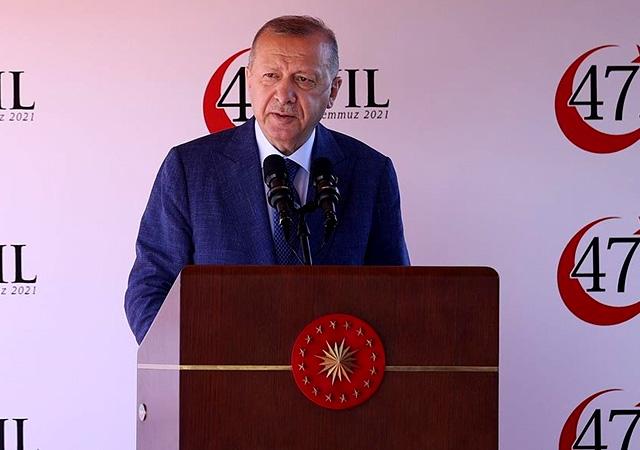 Erdoğan'dan Kıbrıs mesajı: Harcayacak bir 50 yılımız daha yok
