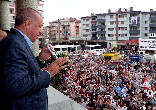 Erdoğan: Yamaçlara 5-10 katlı binalar yapmayın