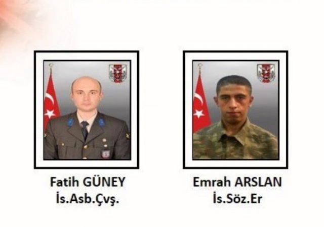 Fırat Kalkanı bölgesinde 2 asker şehit oldu