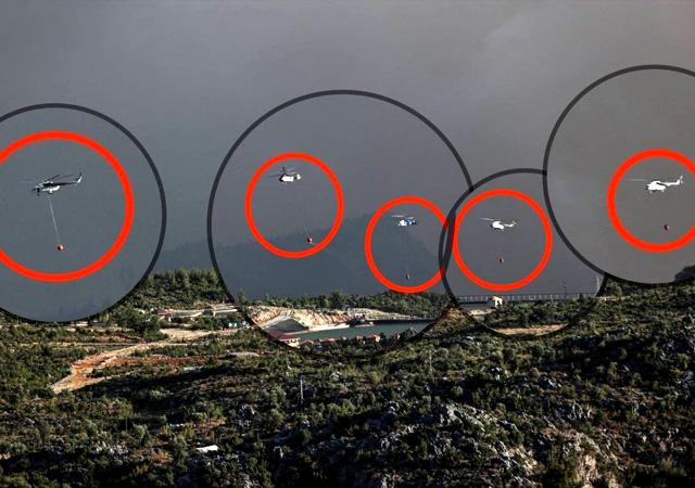'Helikopter' manipülasyonlarına fotoğraflı yanıt: Tek karede 5 tane