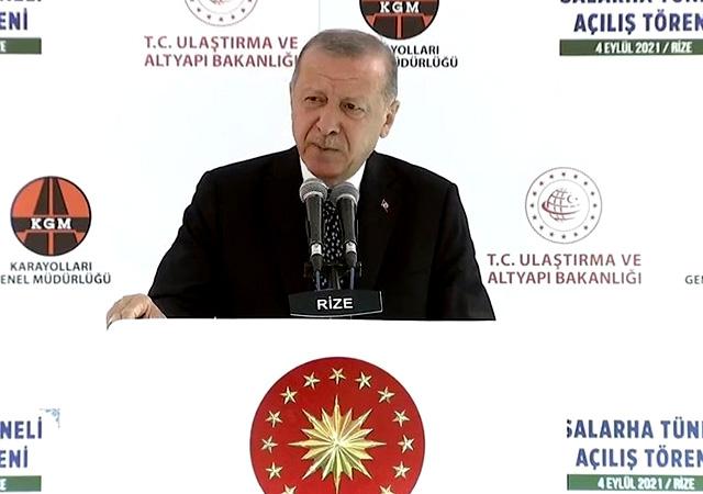 Erdoğan: Bu tünel Rize'nin 70 yıllık hayalidir