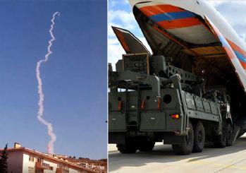 S-400 füzeleri ateşlendi! İşte ilk görüntüler