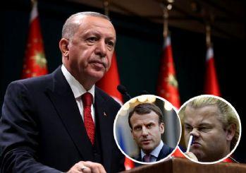 Erdoğan'dan Macron ve Wilders'a tepki: Haddini bil!