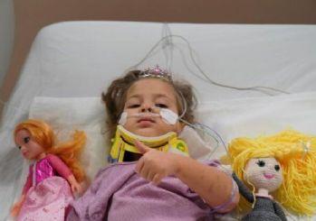 Yoğun bakımdaki tedavisi tamamlanan Ayda, çocuk servisinde odaya alındı